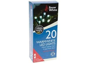 20 WARM WHITE LED CHRISTMAS LIGHTS | Cheap Toys | PoundToy