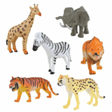 Wild World Safari Toy Figures 6 Pack