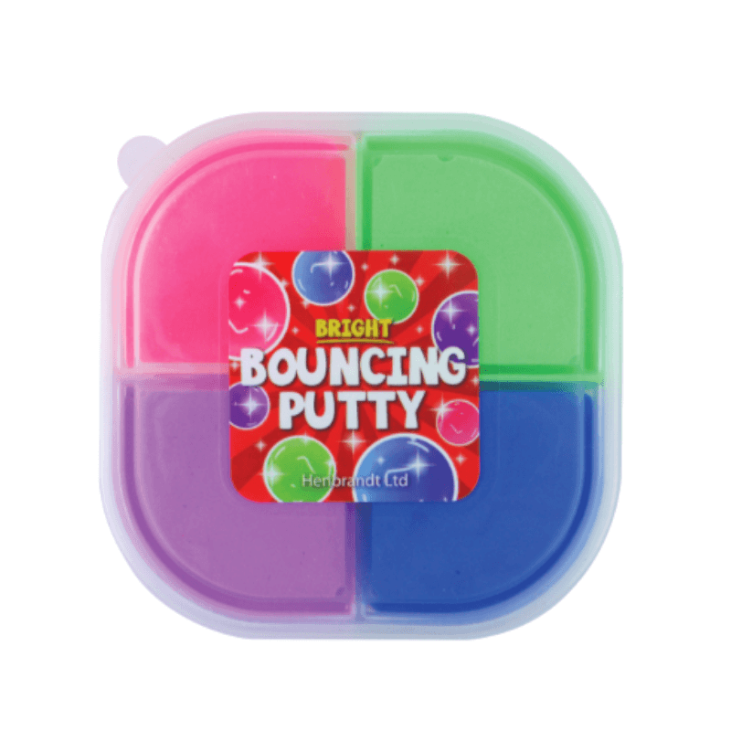 4 COLOURED BRIGHT BOUNCING PUTTY | Cheap Toys | PoundToy