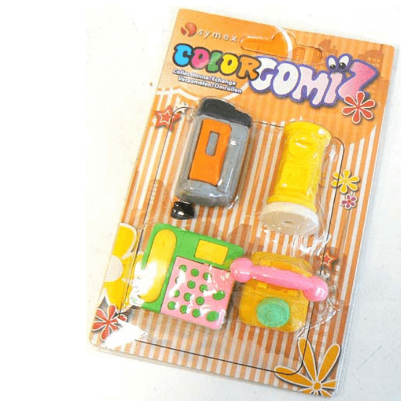 GOMIZ COLLECTABLE ERASERS 4 PACK | Cheap Toys | PoundToy