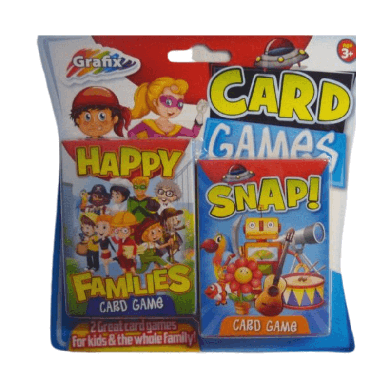 SNAP / HAPPY FAMILIES CARD GAME 2 PACK
