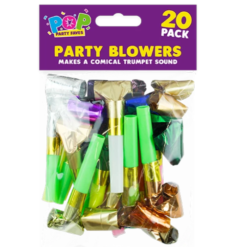 20 FOIL PARTY BLOWERS | Cheap Toys | PoundToy