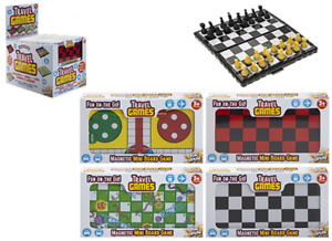 TRAVEL GAMES MINI BOARD GAME SNAKES AND LADDERS