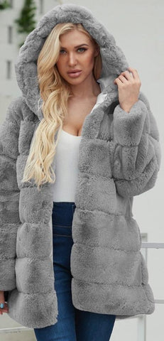 Faux Fur Plush Teddy Coat - Easy Pickins Store