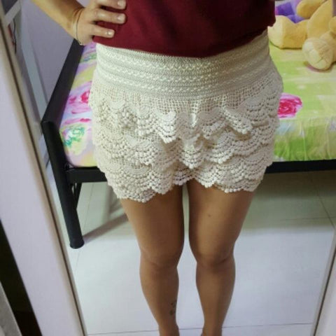 Girls Shorts Summer Lace Crochet Elastic Waist Slim Women Short Pants Tops Sexy Skinny Ladies Shorts - Easy Pickins Store