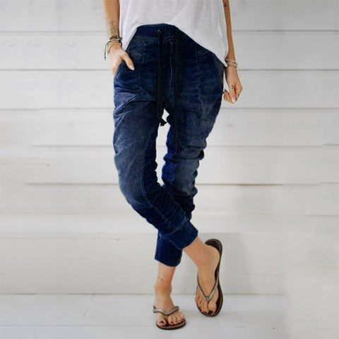 High Waist Jeans Loose Denim - Easy Pickins Store