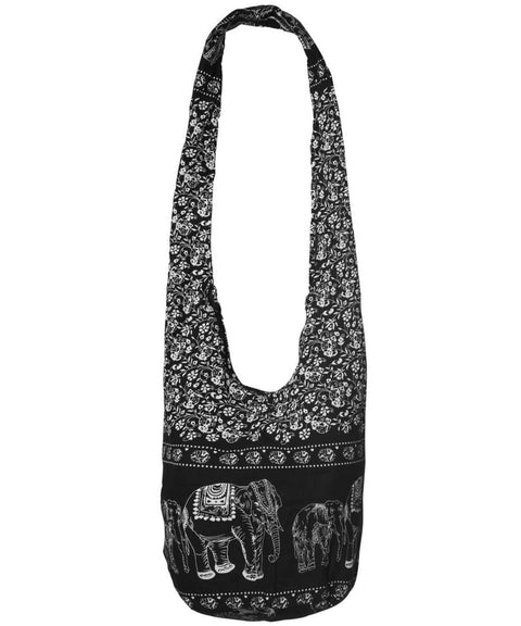 Hippie Bag Elephant Sling Cross Body Purse Zip Pocket - Easy Pickins Store