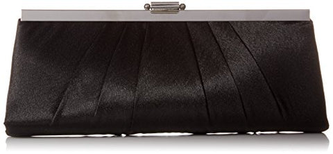 Satin Frame Evening Clutch Bag Purse With Shoulder Chain Included