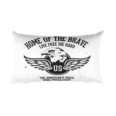 Live Free Die Hard Teflon Pillow