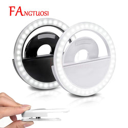2019 Selfie Ring Light USB Charge Selfie Portable Flash Led Camera Phone Photography Ring Light Enhancing Photography for iPhone - DayDeals.ch