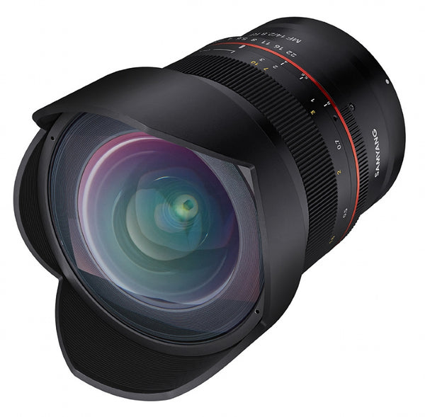 Samyang MF 14mm F2.8 CANON RF Lens - front view