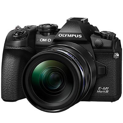 Olympus OM-D E-M1 Mark III Digital Camera with 12-40mm PRO Lens - front view