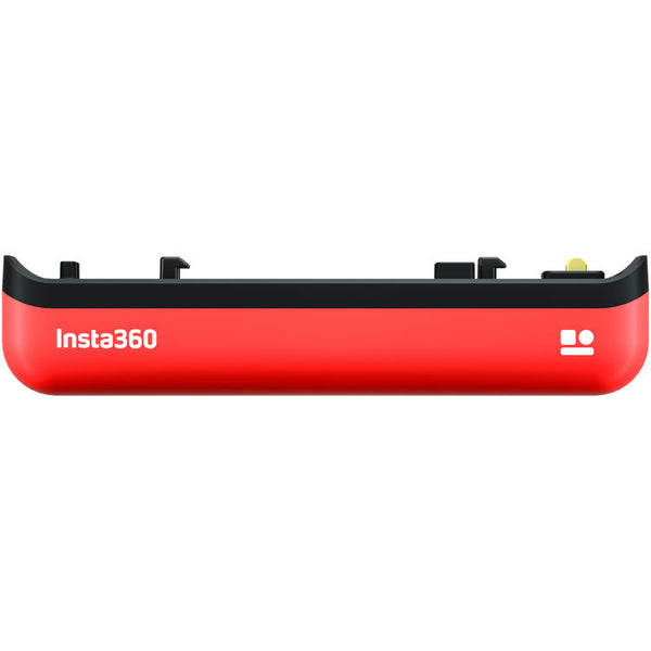 Insta360 One R Battery Base front view - red and black