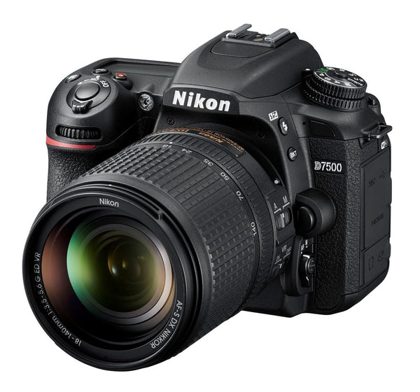 Nikon D7500 Camera & 18-140mm VR Lens - tilted view