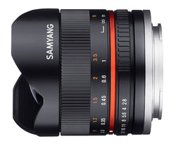 Samyang 8mm F2.8 Fisheye II SONY E black Lens
