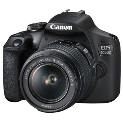 CANON EOS 2000D DIGITAL SLR WITH EF-S 18-55MM IS II LENS KIT - front side view