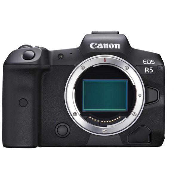 CANON EOS R5 MIRRORLESS DIGITAL CAMERA BODY - front view