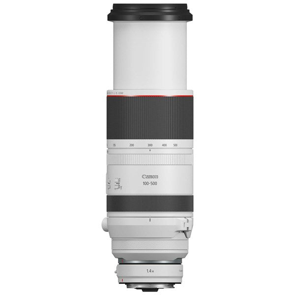 CANON RF 100-500MM F/4.5-7.1 L IS USM LENS - upright side view