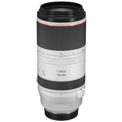CANON RF 100-500MM F/4.5-7.1 L IS USM LENS - top and side view
