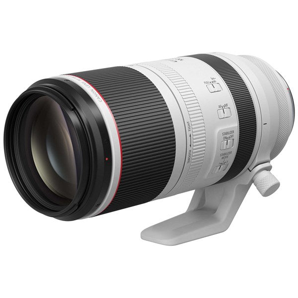 CANON RF 100-500MM F/4.5-7.1 L IS USM LENS - front and side view