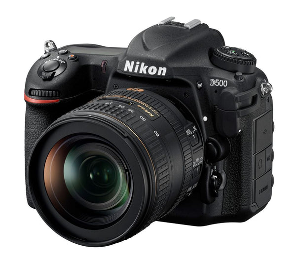 Nikon D500 Camera - shown with lens
