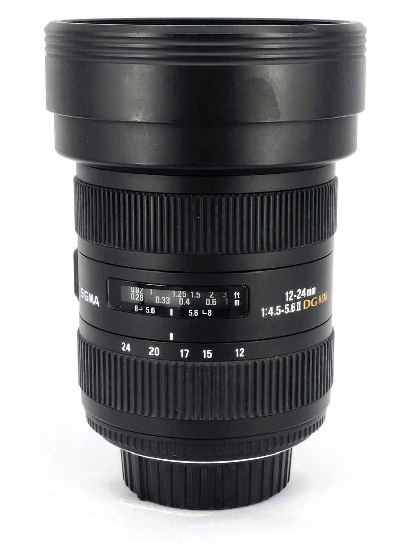 Used Sigma 12-24mm 1:4.5-5.6II DG HSM Lens (Nikon Fit)