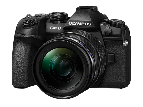 Olympus OM-D E-M1 Mark II Digital Camera with 12-40mm PRO Lens - front view