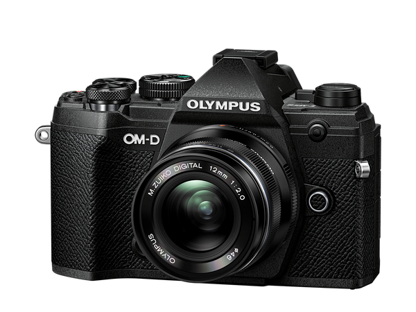 OLYMPUS OM-D E-M5 MARK III DIGITAL CAMERA WITH 12-200MM PRO LENS - black - front view