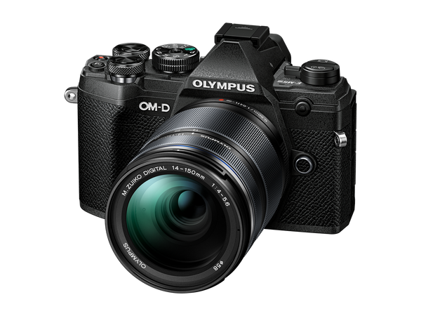 OLYMPUS OM-D E-M5 MARK III Digital Camera with 14-150mm lens - black - front view