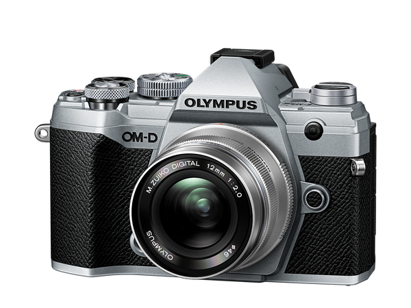 OLYMPUS OM-D E-M5 MARK III DIGITAL CAMERA WITH 12-200MM PRO LENS - silver and black - front view