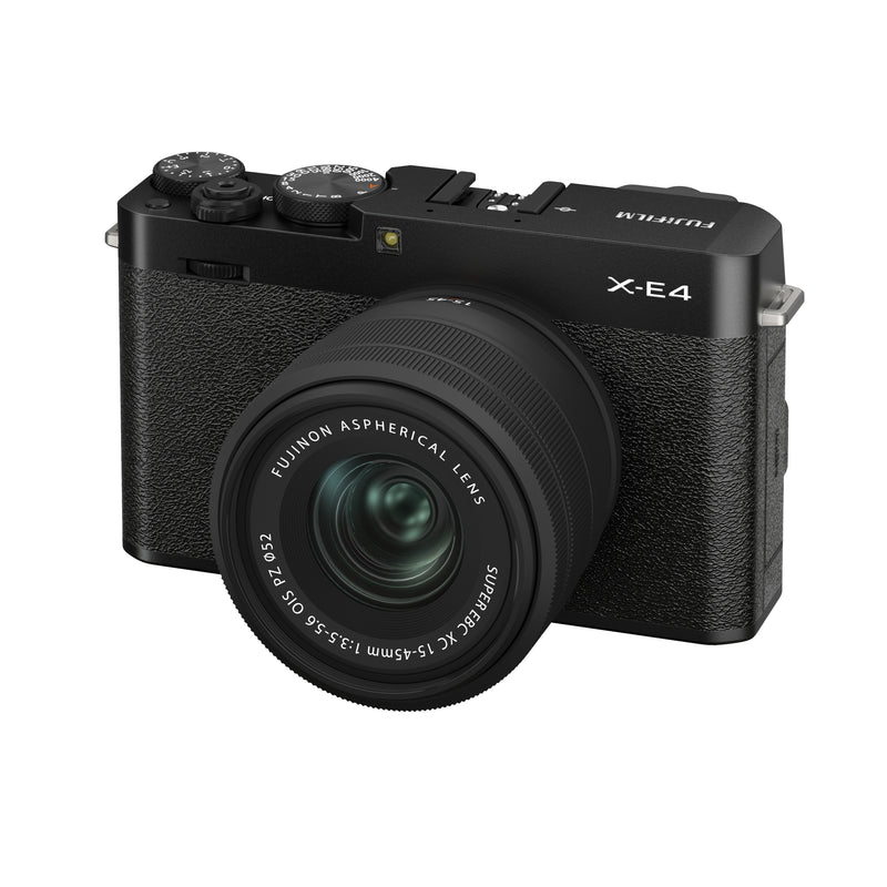 Fujifilm X-E4 Camera in black with lens