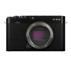 Fujifilm X-E4 Mirrorless Camera Body in black - front