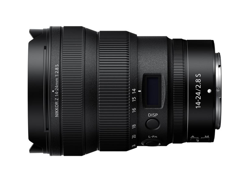 Nikon Z 14-24mm f/2.8 S Lens - side view