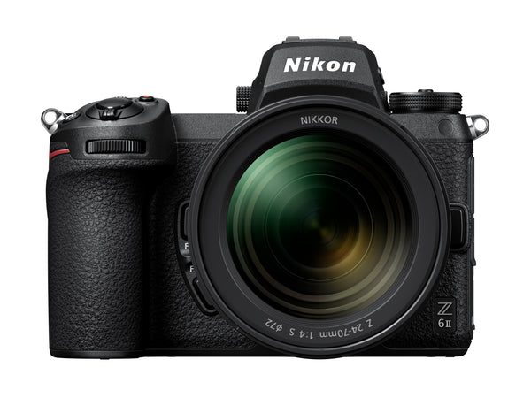 Nikon Z6 II Camera with 24-70mm f/4 Lens Kit with FTZ mount adaptor - front view