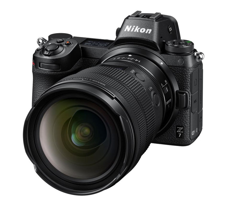 Nikon Z 14-24mm f/2.8 S Lens shown on Nikon Z7