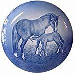Bing & Grondahl 1969-1989 Bing and Grondahl Mother's Day Jubilee Plate -- Mare and Foal - DimpzBazaar.com
