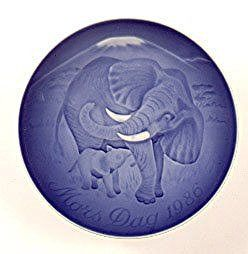 Bing & Grondahl 1986 Bing & Grondahl Mother's Day Plate - Elephant & Calf - DimpzBazaar.com