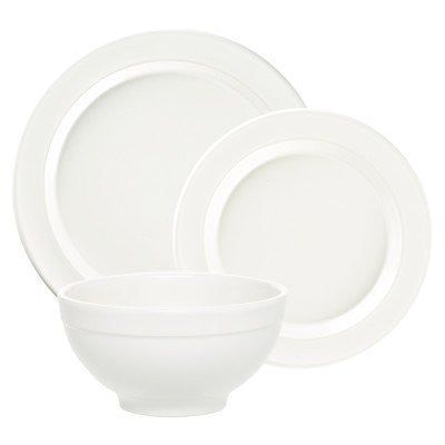 Emile Henry Emile Henry 118807/3 3 Piece Made In France Dinnerware Set, Flour White - DimpzBazaar.com