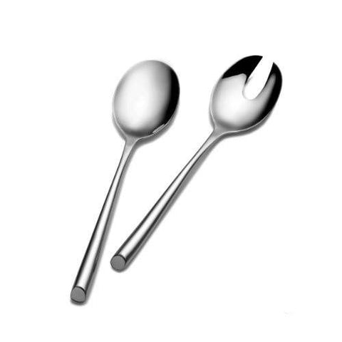 Towle Living Towle Living Wave 2-Piece Stainless Steel Salad Serving Set - DimpzBazaar.com