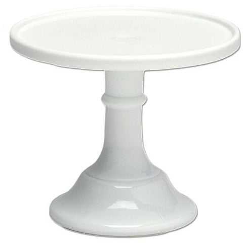 "Mosser Glass Milk White 6"" Glass Cake Stand - By Mosser Glass - DimpzBazaar.com"