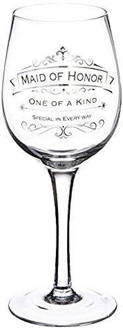 Enesco Lolita Enesco Insignia Maid of Honor Toasting Wine Glass - DimpzBazaar.com
