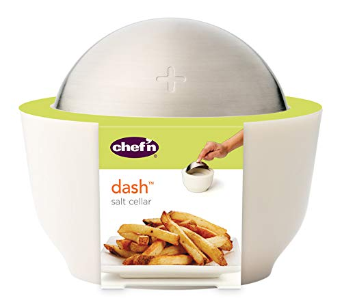 Chef'n Chef'n Dash Salt Cellar with Flip Top Cover, Coconut - DimpzBazaar.com