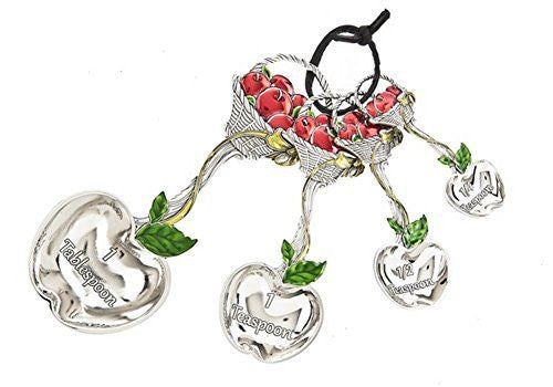 Ganz Ganz 4-Piece Measuring Spoons Set - Basket of Apples - DimpzBazaar.com