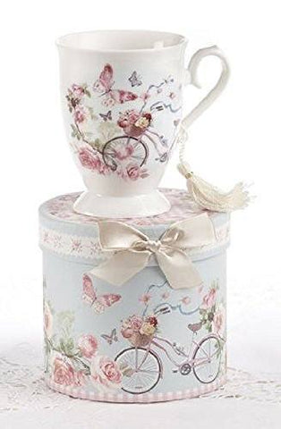 Delton Porcelain Tea / Coffee Mug in Gift Box - Cycle - DimpzBazaar.com