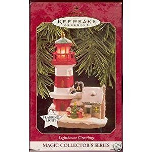 Hallmark 1997 Lighthouse greetings Magic #1 in the series Hallmark ornament - DimpzBazaar.com