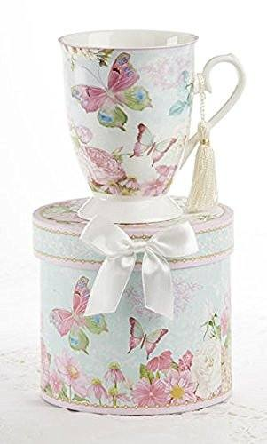 Delton Delton Products Porcelain Tea / Coffee Mug in Matching Decorative Box, Butterfly - DimpzBazaar.com