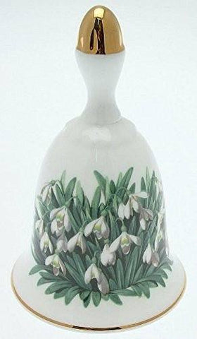 Danbury Mint Danbury Mint Sumner Collection Wildflower Bells - Snowdrop Design - January - CLT350 - DimpzBazaar.com