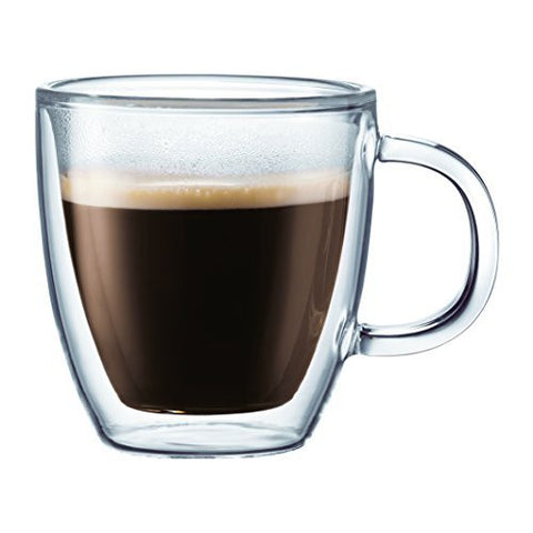 Bodum Bodum Bistro Double-Wall Insulated Glass Espresso Mugs, 5-Ounce, Set of 2 - DimpzBazaar.com