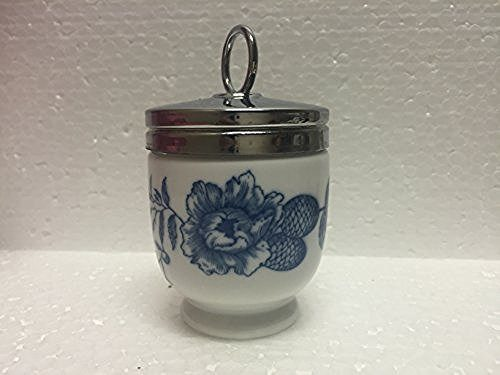 Royal Worcester Royal Worcester Egg Coddler Rhapsody Pattern Single Egg Blue Floral - DimpzBazaar.com