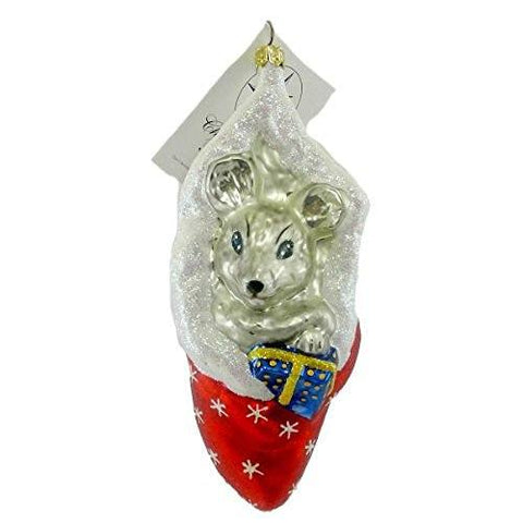Christopher Radko Radko SQUEAKLES 00SP56 Ornament Mouse Christmas New - DimpzBazaar.com